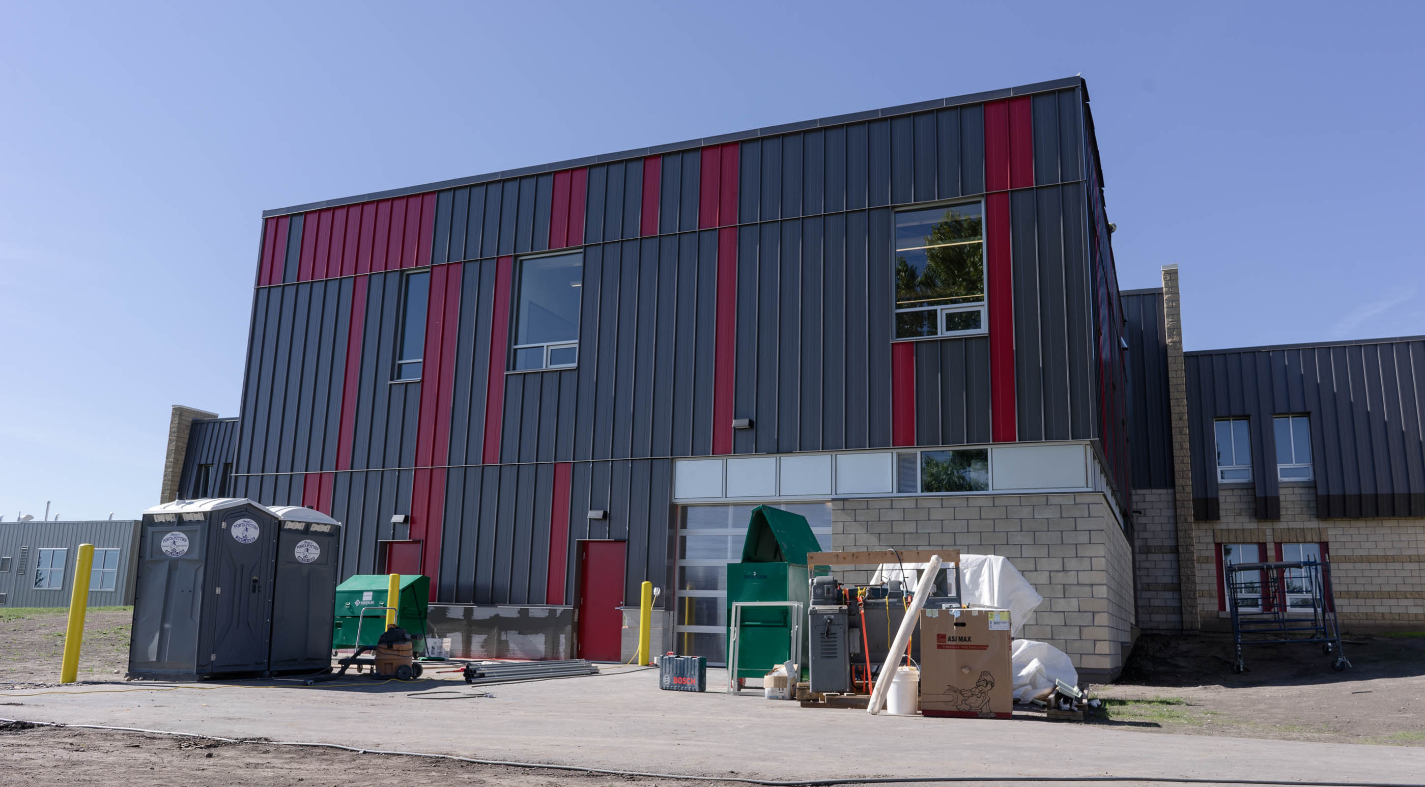 <h3>Ecole Ste. Marguerites</h3> <p>This project consisted of the addition of a new South wing that now houses an automotive shop, beauty salon, and recreation area for the students. A highlight of this project was our team's collaboration with the masonry team on-site to ensure that scaffolding, heating & hoarding, and cleanup were efficiently coordinated so the block walls could be completed during the cold winter months.</p>