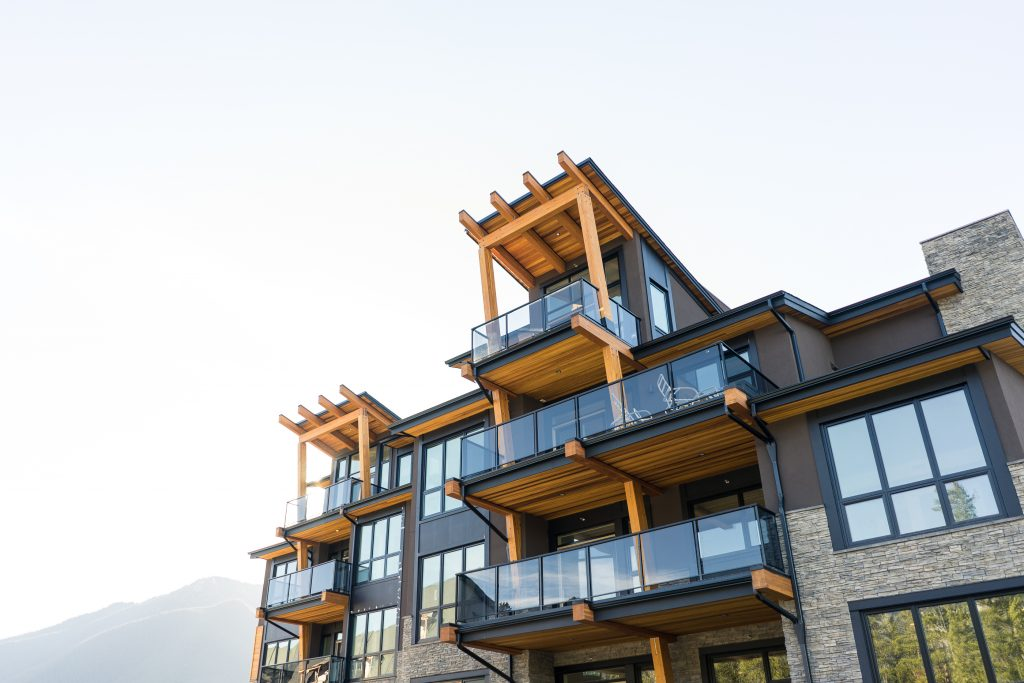 <h3>Canmore Renaissance, Abruzzo Building</h3> <p>Situated in the Eastern valleys of the Rocky Mountains, Canmore Renaissance was designed to mirror its surroundings. A four-story wood and steel structured luxury residential mountain condo project designed by the award-winning international architecture firm, IBI Group, its features are reminiscent of the forests and mountains that it's nestled within. The project consisted of eight custom residential suites, a main floor wellness facility, and a shared elevator. Westcor delivered the project using a Construction Management contract that allowed the developer flexibility during the design and construction activities throughout the build process.</p>