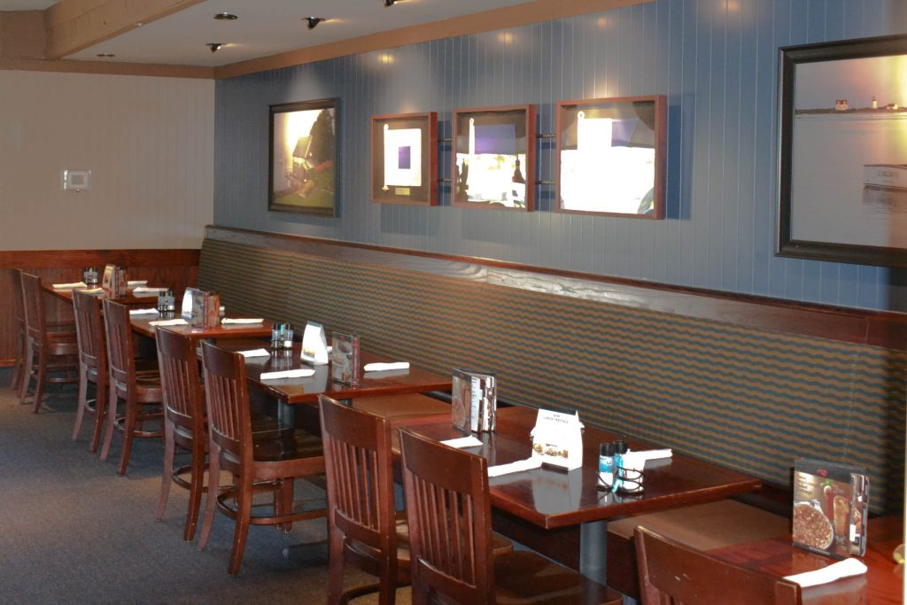 <h3>Red Lobster</h3> <p>This complete interior and exterior renovation consisted of new ceilings, wall and floor finishes, a new bar and counter tops, and the addition of exterior entrance towers to give the building a grander feel. Renovations were completed in the evening and into the early hours of the morning in order to maintain an environment that was fit for restaurant service while the project was being completed.</p>