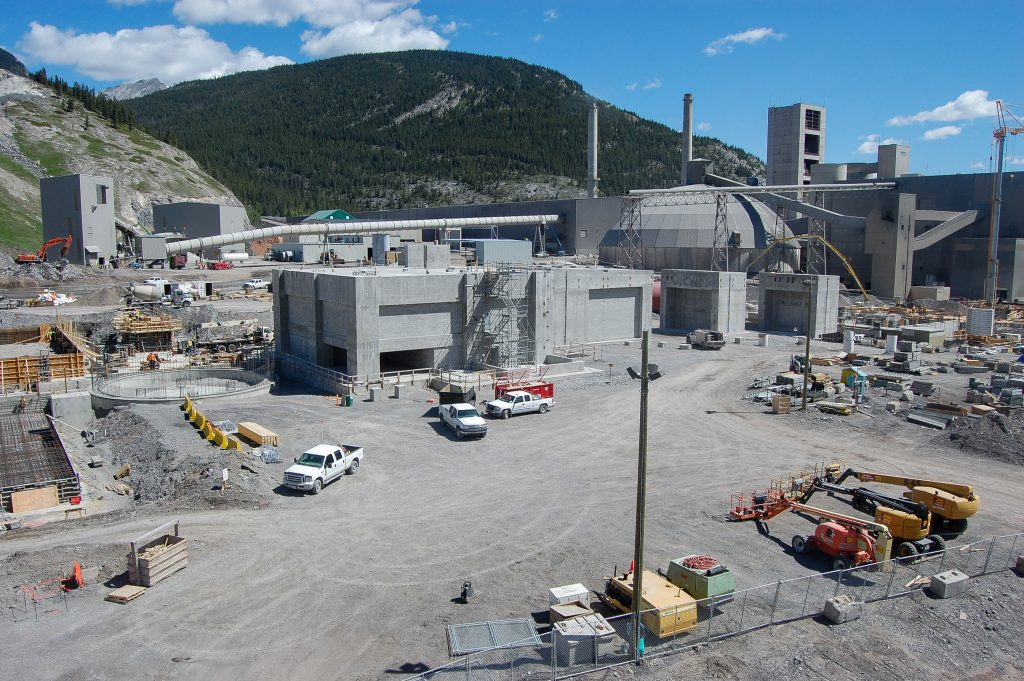 <h3>Lafarge Exshaw Cement Plant</h3> <p>Collaborating with Lafarge and other General Contractors to ensure maximum efficiency and effectiveness, Westcor coordinated concrete pouring and finishing for new kiln and preheater tower foundations, silo foundations, and various other foundations within the plant. In total, 18.000 m3 of concrete was poured, including a 35-hour continuous pour. </p>